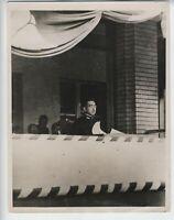 1935 HIROHITO VINTAGE ORIGINAL PHOTO BATTLE OF JAPAN IN NAVAL UNIFORM RARE