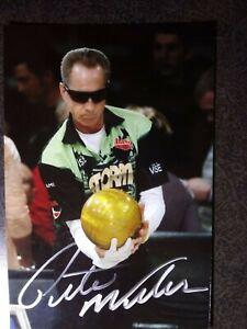 PETE WEBER Authentic Hand Signed Autograph 4X6 Photo  - PBA BOWLING LEGEND