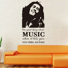 Bob Marley Music Removable  Wall Art Sticker Quote Vinyl Decal Home Decor Art