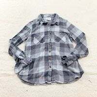 Olive & Oak Womens Shirt Plaid Blue Gray Button Down Cozy Flannel Stitch Fix M