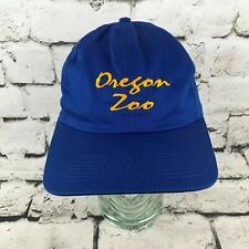 0f45de1c582d8 Vintage JHats Oregon Zoo Mens One Sz Hat Blue Adjustable Snapback Baseball  Cap