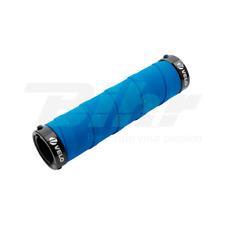 67AZ Manopole bici VELO EVA+Gel estremi in alluminio lungo 130mm colore blu