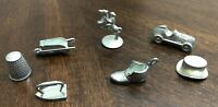 Monopoly Metal Markers Lot of 7 Parker Replacement Game Pieces Tokens Vtg 1973