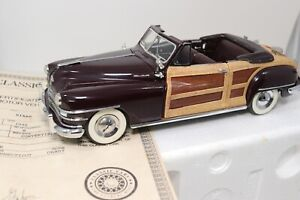 Danbury Mint 1948 Chrysler Town & Country Convertible 1/24 Scale Diecast In Box