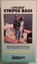 LIVE BAIT STRIPED BASS  with captain al lorenzetti VHS VIDEOTAPE
