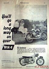 1957 Motor Cycle ADVERT - B.S.A. '500cc Shooting Star OHV Twin' Print AD #2