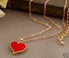 Love red hearts pendent necklace chain for women