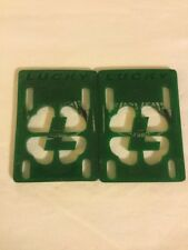 Lucky 7 1/8� Skateboard Soft Green Risers Used