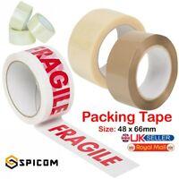 2X QUALITY PARCEL PACKING BUFF STRONG CARTON SEALIG TAPE 48MM x 66M LONG B157