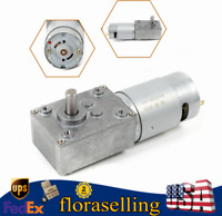 DC 12V 3RPM High Torque Reversible Electric Turbo Worm Gear Motor 8mm Out Shaft