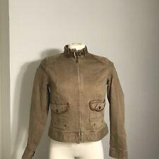 Womens Lauren Ralph Lauren Brown Wash Denim Utility Jacket Size 10