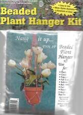 """NIP!!! BEADED PLANT HANGER KIT APPROX. 36"""" LONG"""