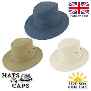 UPF 50+ Summer Fedora Traveller Sun Hat Packable Showerproof Safari Bush Hat
