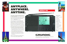 """8 1/2 x 11"""" COLOR PHOTO OF THE AD FOR THE GRUNDIG SATELLIT 900 SHORTWAVE RADIO"""
