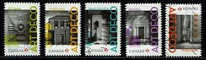 Complete Set of Art Deco Used Canada Stamps from 2011