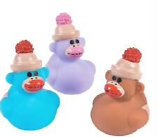 Sock Monkey Rubber Duckies Set of 3 *Free S/H Buy More Save More*