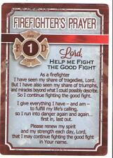 """FIREFIGHTER'S PRAYER laminated card 2.5"""" x 3.5"""" Fight The Good Fight religious"""