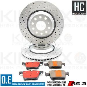 FOR AUDI RSQ3 RS Q3 CROSS DRILLED BRAKE DISCS CERAMIC PERFORMANCE PADS 310mm