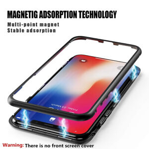Magnetic Adsorption Snap Case iPhone 11Pro XS Max 8 7 Tempered Glass Shell Cover