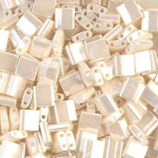 Miyuki Tila 2 Hole Square Beads Light Amethyst Gold Luster 5mm