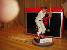 1990's Gartlan Baseball Statue Stan Musial Autograph St Louis Cardinal COA Plate