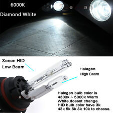 HID Headlight Bulb Conversion Xenon Halogen Hi-Lo 9007-2 6000K Diamond White B2