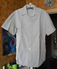 JEAN CHATEL, Chemisette chemise m. courtes T2 (37-38) Vert Rayé Beige, Coton,