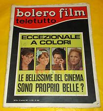BOLERO FILM 1967 n. 1029 Raquel Welch, Claudia Cardinale, Sophia Loren