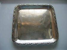 "HTF Gushee Claremont hotel NYC New York 6"" by 6"" silverplate tray Reed & Barton"