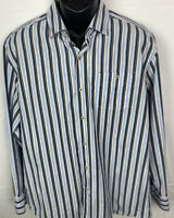 Tommy Bahama Men's Button Up Dress Shirt Size Large Cotton Long Sleeve