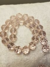 25 pcs 13.5 mm Pink Rondelle Faceted Crystal Glass Loose Spacer Beads Findings