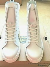Dr. Martens Women Zaniel All White Leather Lace-Up Boots Size US 9 M