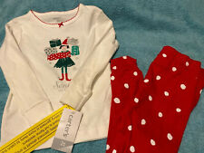 Toddler Girls 2 Piece Carters Christmas Outfit Size 2T New With Tags
