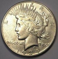 """1934-S Peace Silver Dollar $1 - Excellent Condition - Rare Date """"S"""" Mint Coin!"""