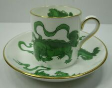 Wedgwood CHINESE TIGERS GREEN Bond Demitasse Cup & Saucer