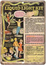"""Liquid Light Kit Bracelet Elton John Comic 10"""" X 7"""" Reproduction Metal Sign J133"""