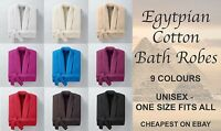 100% EGYPTIAN COTTON SHAWL COLLAR BATH ROBE GOWN - ONE SIZE FITS ALL - UNISEX