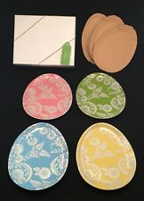 Set of 4 Pottery Barn Easter Egg Floral Pastel Salad Dessert Plates Original Box