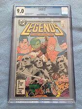 Legends #3 (Jan 1987, DC) CGC 9.0 1st App New Suicide Squad - White Pages