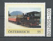 """Österreich PM personalisierte Marke Eisenbahn """"Dampfzug"""" **"""