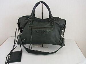 Auth SN12 BALENCIAGA the City 2WAY bag handbag with shoulder