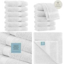 Luxury White Hand Towels - Soft Circlet Egyptian Cotton | Highly Absorbent Hotel