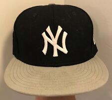New York Yankees NE 59Fifty Navy & Gray Men's  Hat / Cap wool blend 7 1/4 57.7cm