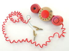 Retro Red Color Vintage Soviet USSR Desk Wall Phone Telephone Rotary Dial Bell