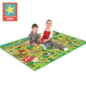 Eduk8 Farm Extra Large Activity Mat - Childrens Floor Play Home Game 200x120cm