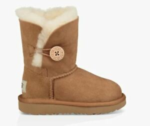 NEW TODDLER INF UGG BOOT BAILEY BUTTON II CHESTNUT ORIG WATER RESISTANT 1017400T