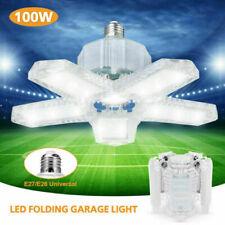 100W Deformable LED Garage Light 10000LM super bright Shop Ceiling Lamp Bulb