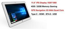 "11.6"" IPS intel X5 8350 2 in1 4GB 32GB Windows 10 GPS Laptop Tablet PC"