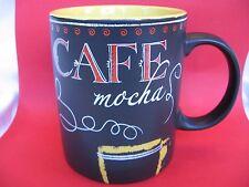 Starbucks 2007 Mug Expresso Cafe Mocha Black Chalkboard Series 12 oz  DISPLAY