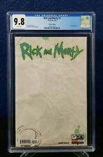 Rick and Morty #1 CGC 9.8 Blank Sketch Variant 1st Print Roiland Harmon